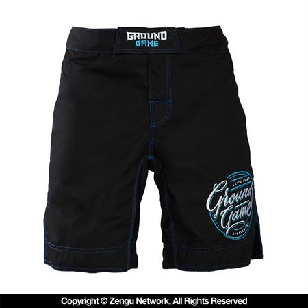 Ground Game Classic Black Ripstop Fight Shorts